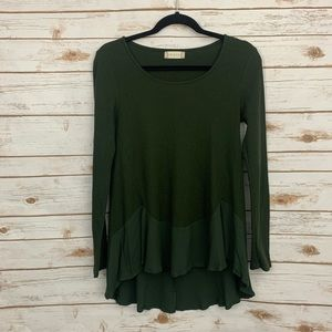 Altar'd State Hi Lo Green Thermal Rayon He…